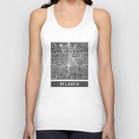 atlanta Tank Tops featuring Atlanta map by Map Map Maps