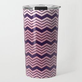 Geometrical purple pastel pink ombre chevron Travel Mug