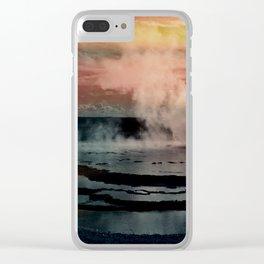 geyser Clear iPhone Case