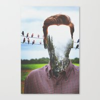 indie Canvas Prints featuring Indie Collage by NicoleMitchell