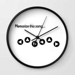 Memorize Zeldas Lullaby Wall Clock