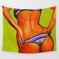 bikini Wall Tapestries featuring Bikini by Ed Pires