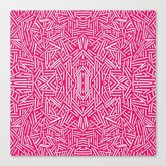 Radiate (Coral) Canvas Print