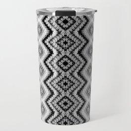 Black White Diamond Crochet Pattern Travel Mug