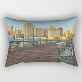 Pier 7- painting Rectangular Pillow
