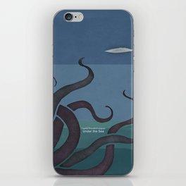 Jules Verne's Twenty Thousand Leagues Under the Sea - Minimalist literary design, literary gift iPhone Skin