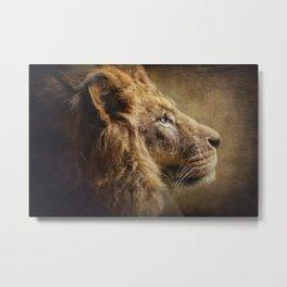 The Lion Portrait Metal Print