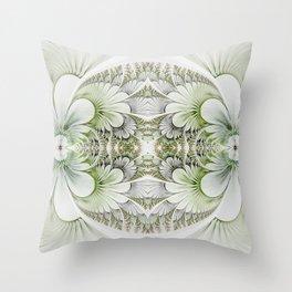 Veggie green medaglione II Throw Pillow