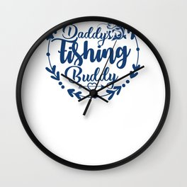 New Fishing Design Daddys Fishing Buddy Wall Clock