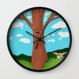 Freckled Fawn Wall Clock