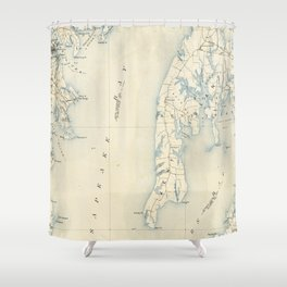 Vintage Annapolis MD & Chesapeake Bay Map (1902) Shower Curtain