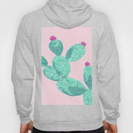 Cactus with pink flowers Hoody