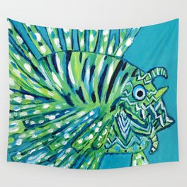 Lion Fish 1, a pretty predator Wall Tapestry