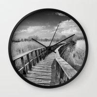 bridge Wall Clocks featuring Bridge by Guido Montañés