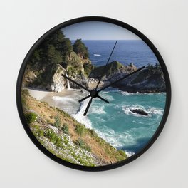 Magical Cove with a Waterfall Wall Clock