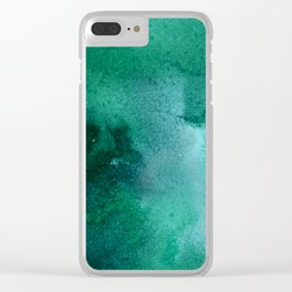 turquoise haze Clear iPhone Case