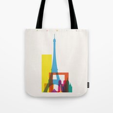 Shapes of Paris. Accurate to scale. Tote Bag