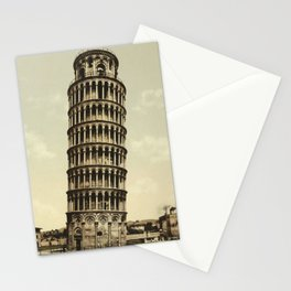 Vintage Leaning Tower of Pisa Photograph (1900) Stationery Cards