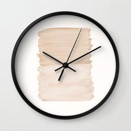 Warm Beige Abstract Minimalism #1 #minimal #ink #decor #art #society6 Wall Clock