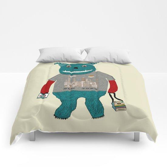 new york monster Comforters
