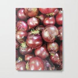 texture of onions Metal Print