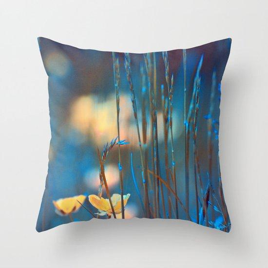 Blue dusk. Throw Pillow