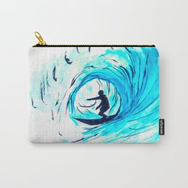 Surfer in blue Carry-All Pouch
