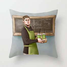 Your friendly pagan god barista Throw Pillow