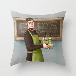 Your friendly pagan god barista Throw Pillow
