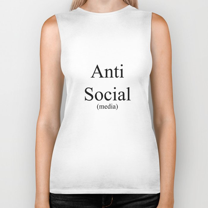 Anti Social Media Biker Tank