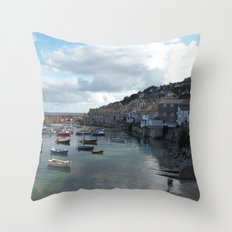 Mousehole, Cornwall Throw Pillow