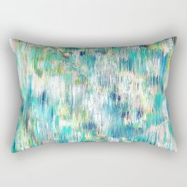 Green Abstract Painting. Beautiful Greens and Blues. Intriguing and Unique. Rectangular Pillow