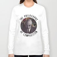 philosophy Long Sleeve T-shirts featuring The Philosophy of Composition by Collage Calamity
