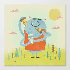 Pizza Pieces Canvas Print