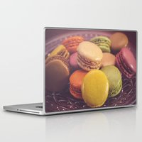 macaroons Laptop & iPad Skins featuring French Macaroons by ELIZABETH THOMAS Photography of Cape Cod