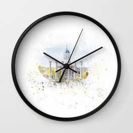 Mizzou Columns Splash Wall Clock