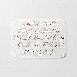 Hand Written Copperplate Alphabet Bath Mat