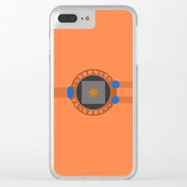 Digivice phone | Orange, Taichi Yagami version Clear iPhone Case