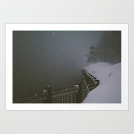 Boardwalk and Mire. Art Print