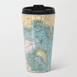 Vintage Arctic Map Travel Mug
