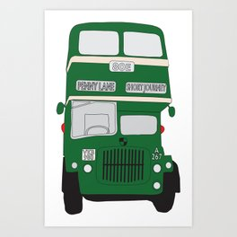 Liverpool classic bus to Penny lane Art Print