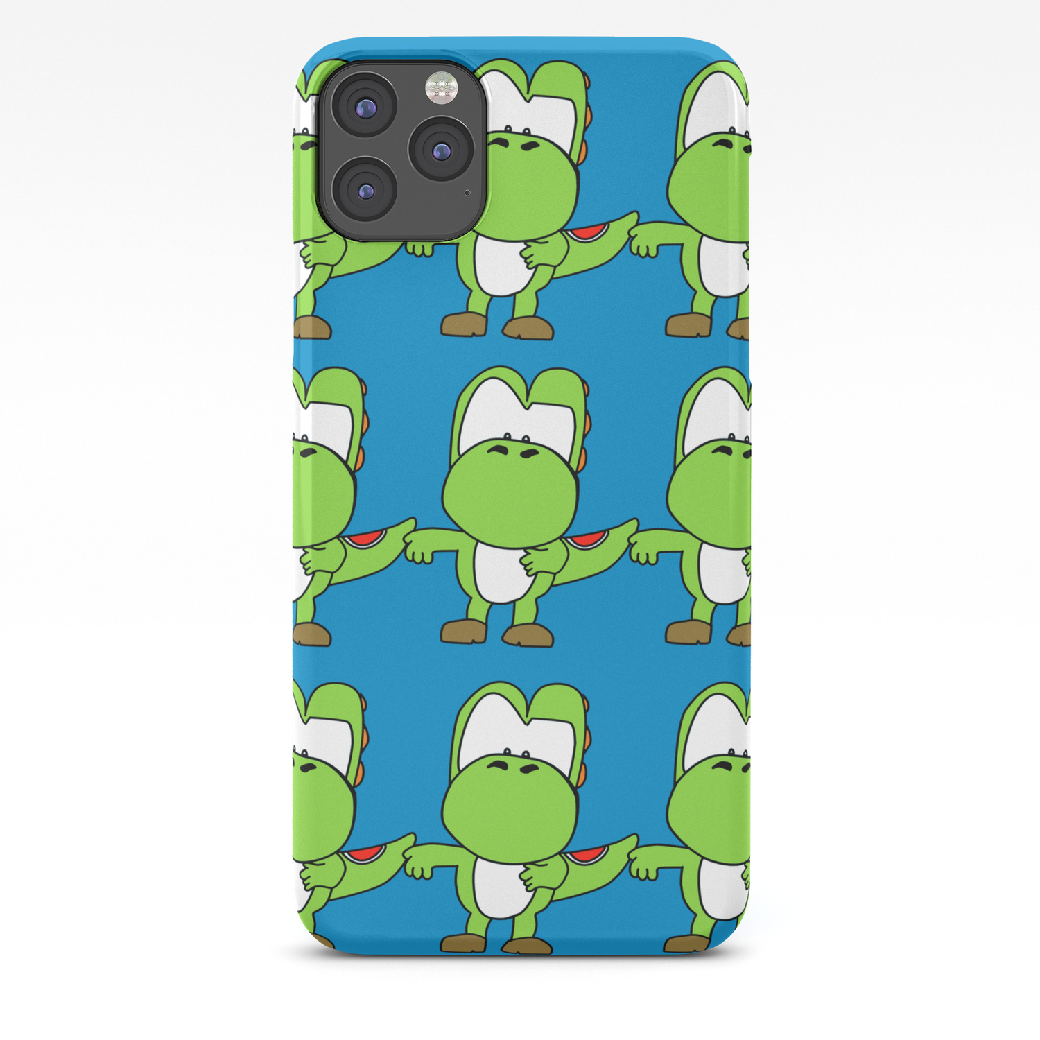 Custom Cartoon Blue Yoshi Wallpaper Iphone Case By