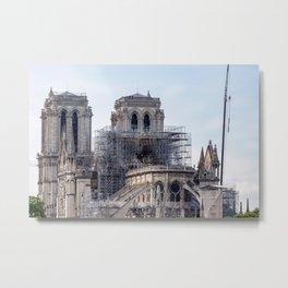 Notre Dame de Paris, the day after the fire Metal Print