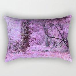 Fantasy Tree Landscape: Orchid Pink Purple Rectangular Pillow