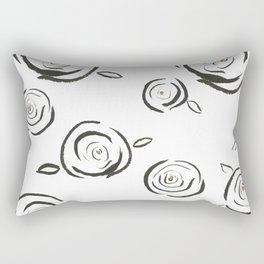 Flying Roses Rectangular Pillow