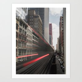 Train Blur Art Print