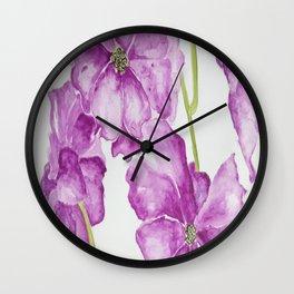 Flower lilac Wall Clock