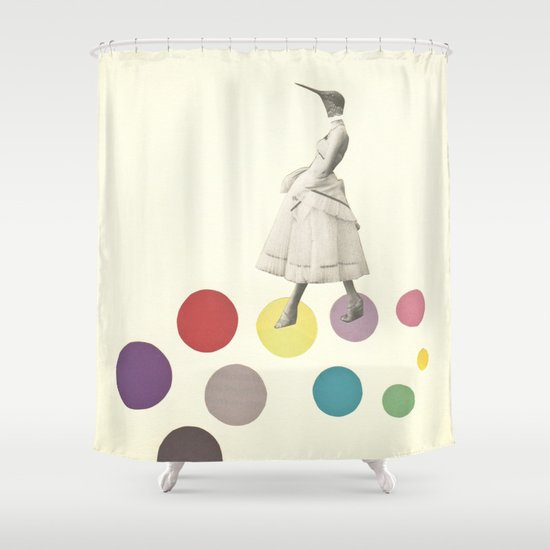 Bird Lady Shower Curtain