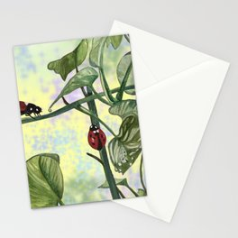 Love bugs in the garden Stationery Cards