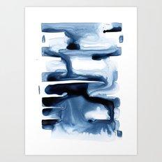 Abstract Indigo no. 1 Art Print